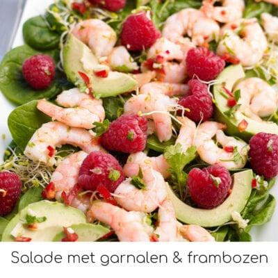Salade met garnalen & frambozen (2)