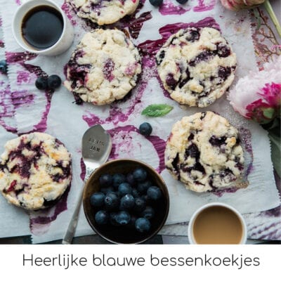 Heerlijke blauwe bessenkoekjes