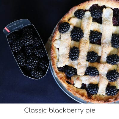 Classic blackberry pie
