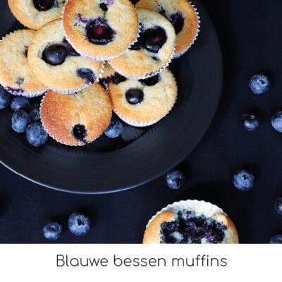 Recepten Blauwe bessen muffins