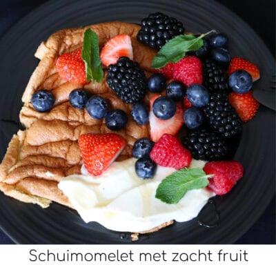 Schuimomelet met zacht fruit