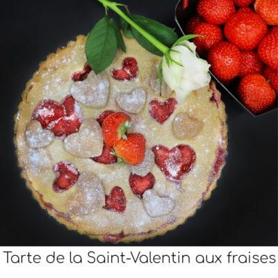 Tarte de la Saint-Valentin aux fraises